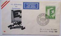 Austria 10. Birthday Des Europarates Letter 1959 (8204)