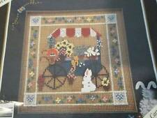 Mill Hill Almost Completed Garden Cart Cross Stitch Picture/Kit-71x71 Stitches-B