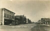 1920s Le Mars Plymouth Iowa Main Street View Royal Hotel Cook RPPC Real Photo