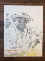 Authentic FRANK GUTIERREZ PAINTING DRAWING ORIGINAL Watercolor & Graphite