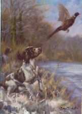 Springer Spaniel Dog Puppy Painting Christmas Card