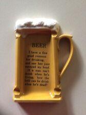 New listing Old Beer Mug Ashtray - Ashtray is Shaped Like Beer Mug With Drinking Saying.