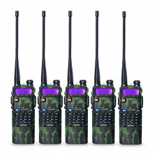 5pcs BaoFeng UV-5R Dual UHF/VHF Radio Transceiver 3800mah Battery Walkie Talkie