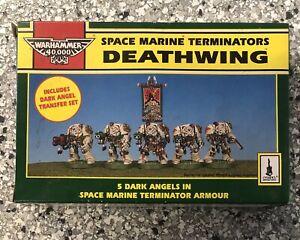 Warhammer 40k Space Marine Dark Angels Deathwing Terminators (1991) Metal NiB