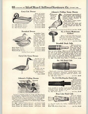 1950 PAPER AD Carry Lite Duraduck Johnson's Duck Decoys Calls Bean Lake Stofer