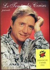 Pascal SEVRAN PROGRAMME LA CHANCE AUX CHANSONS 1991 LE TEMPS DES CERISES ROYAN