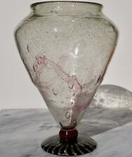 Charles Schneider Le Verre Francais Art Deco Large Footed Glass Vase