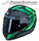 Casco Scorpion Exo 1200 Hornet nero opaco verde matt black green kawasaki moto