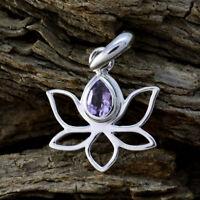bonnie Amethyst 925 Sterling Silber lila Anhänger echte Exporteur de Geschenk