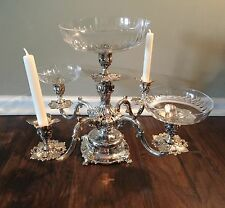 Reed Barton Silverplate 5 Light Candelabra Epergne~Renaissance Pattern 166