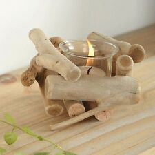 Wooden Tea Light Candle Holder Vintage Home Decor Country Style Novelty Gift New