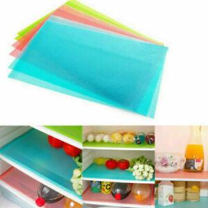 4pcs Refrigerator Fridge Washable Mat Pad Drawer Liners Kitchen Waterproof Shelf
