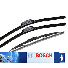 Bosch Aerotwin Retro Front & Specific Rear Wiper Blades Genuine Windscreen Set