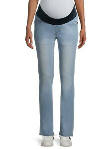 Maternity Oh! Mamma Straight Leg Jeans with Demi Panel Size 3X