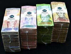 2014 Venezuela $5 $10 $20 & $50 Bolivares 4 Bricks 1 Each 4000 Pc New Unc SKU506