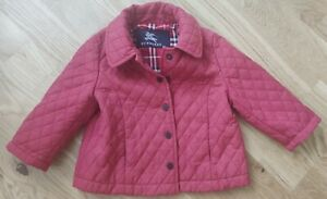 Burberry Quilted Coat Jacket Dark Red 12 Months 1 Years Baby Infant Unisex