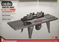 Ozito Router Table Cast Aluminium Sliding Mitre Extendable Extensions Dust Port