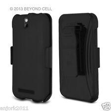 HTC One SV Cricket Boost Hard Case + Holster Combo mit drehbarem Gürtelclip schwarz