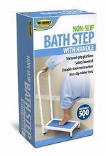 Bath Step With Handle Bathtub Shower Non-Slip Stool Safety Bathroom 500lbs Steel