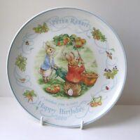 Wedgwood PETER RABBIT Birthday Plate 2000