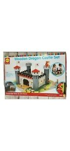 Wooden dragon castle set. 55 pieces bridge goes up and down. For all ages.