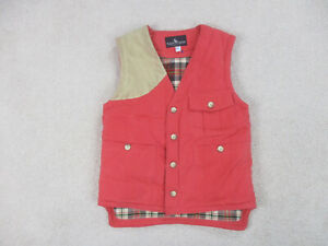 VINTAGE Ralph Lauren Polo Vest Adult Small Red Brown Outdoors Mens 90s