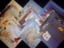 12x12 Scrapbook Paper Travel Colorbok Summer Vacation Road Trip Destinations