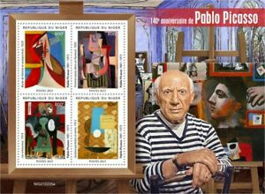Niger 2021 MNH Modern Art Stamps Pablo Picasso Paintings Cubism Surrealism 4v MS
