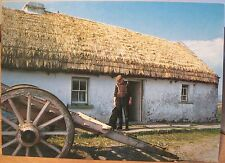 Irish Postcard THATCHED FARMHOUSE Cottage Ireland People & Places Hinde O'Toole