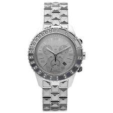 Christian Dior CD114313 Crystal Diamond Bezel Steel Silver Quartz Wrist Watch