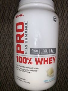 25 Servings GNC Pro Performance 100% Whey Protein Vanilla Cream Supports Healthy