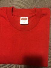 Supreme T-Shirt Plain Red Size Medium Short Sleeve