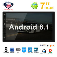 """7"""" Android 8.1 Car Double Din Stereo Gps Navigation Wifi Bluetooth Radio Player"""