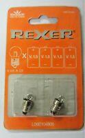 2 pezzi Rexer MICRO blister 2 lampadine E10 V 4.8 - A 0.5  L06E104805 new