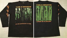 1995 Type O Negative Long Sleeve T-Shirt L/XL Suspended In Dusk Vtg peter steele