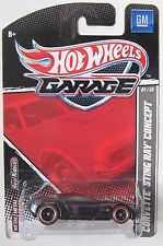 HOT WHEELS GARAGE CORVETTE STING RAY CONCEPT #07/22 REAL RIDER TIRES