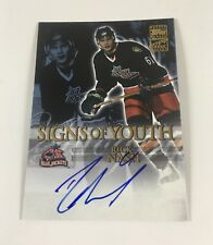 2003 Topps Hockey Autographed Rick Nash Signs of Youth BlueJackets Auto LB01