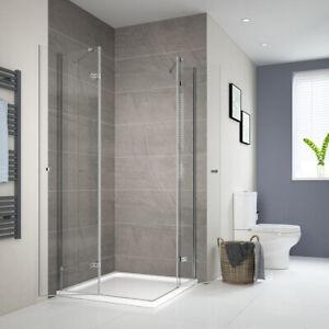 Dusche 120x90 80x100 90x90 Eckeinstieg Duschabtrennung Glas Nano Duschkabine ESG