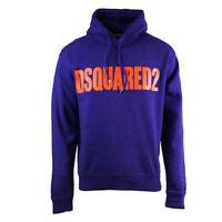 Dsquared2 New Dan Fit Large Logo Purple Hoodie