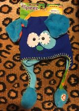 "Flipeez~Blue Puppy~Ears ""flip""~Fleece lined knit cap~One Size~New with tags"