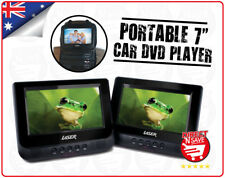 """7"""" Dual Screen In-Car Portable DVD Player USB SD Laser Remote Control Headphones"""