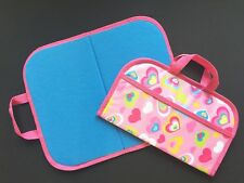 Felt / Flannel Board w/ handles & storage 14.5 X 17 Pink Hearts