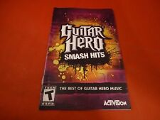 Guitar Hero Smash Hits Playstation 2 PS2 Instruction Manual Booklet ONLY