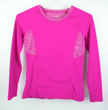 Kyodan Womens Athletic Running Long Sleeve Top w/Thumb Holes Pink Size Medium