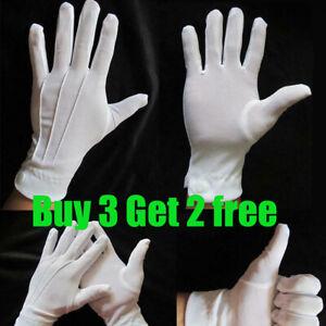 1 Pair Formal Gloves Adult White Men Tuxedo Guard Parade Santa Dress Unisex UK
