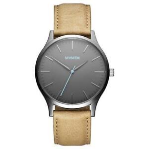 MVMT Watches 40 Series Gunmetal Sandstone 40MM Leather Band Men's Watch