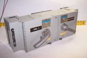 GOULD / ITE VACU-BREAK 100/100 AMP DOUBLE BRANCH FUSIBLE PANELBOARD UNIT V7E3633