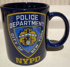 NYPD CITY OF NEW YORK POLICE DEPARTMENT 11 OZ COFFEE MUG NAVY
