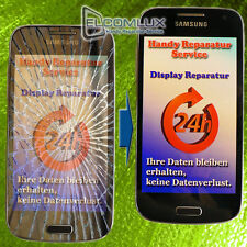 Display Front Glas Reparatur Samsung Galaxy S3 mini UV Vollverklebung  BLAU