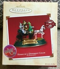 Hallmark Keepsake Ornament Wizard of Oz Horse of a Different Color 2002